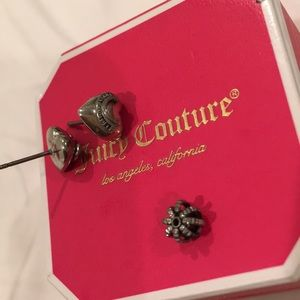 Juicy Couture Heart ❤️ Banner Logo Earrings